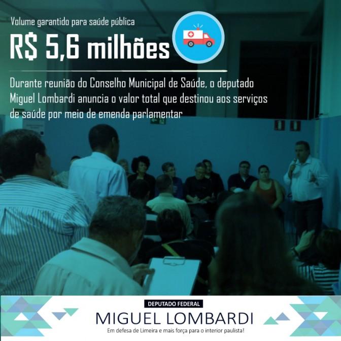 Saúde: R$ 5,6 milhões para Limeira