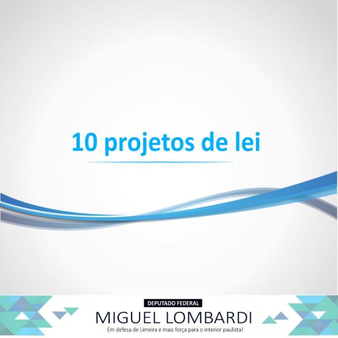 Conheça os 10 projetos do deputado