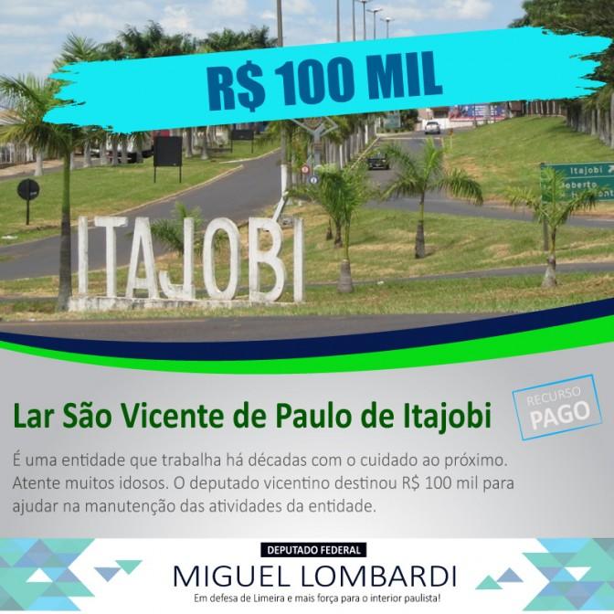 Itajobi recebeu recurso de R$ 100 mil