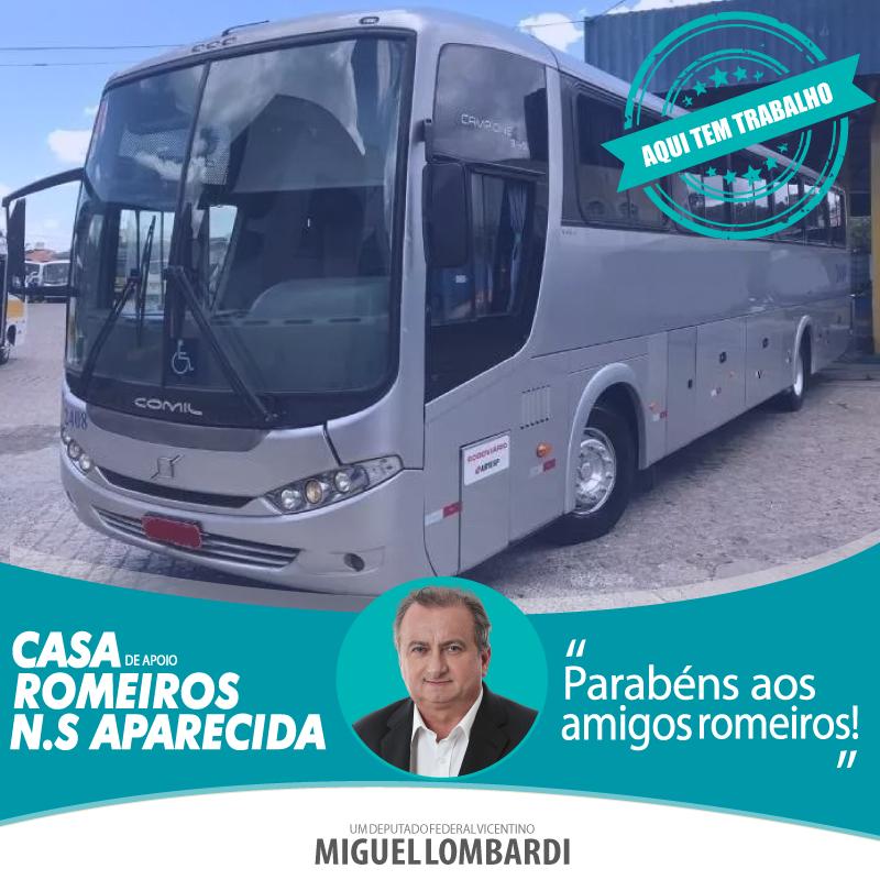 Ônibus reforça trabalho dos Romeiros