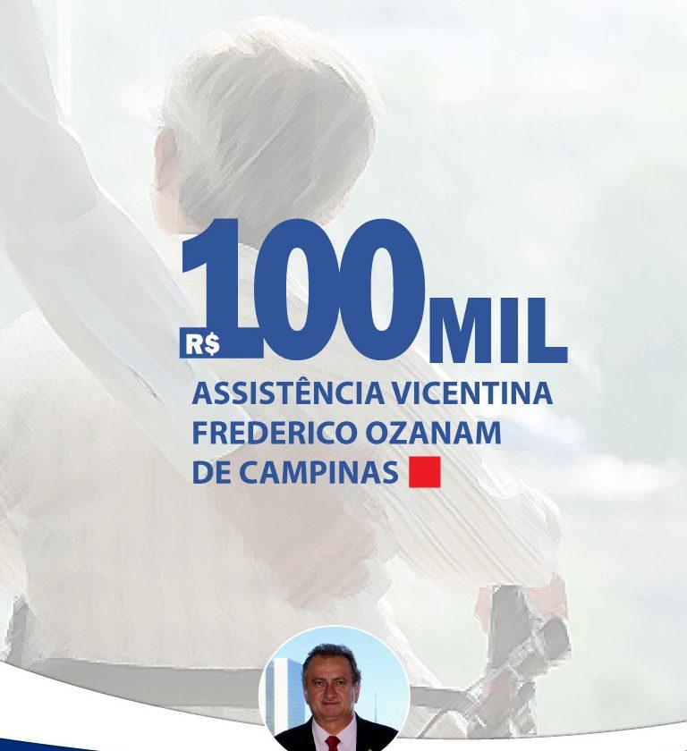 Miguel destina R$ 100 mil para ajudar acolhimento de idosos em Campinas