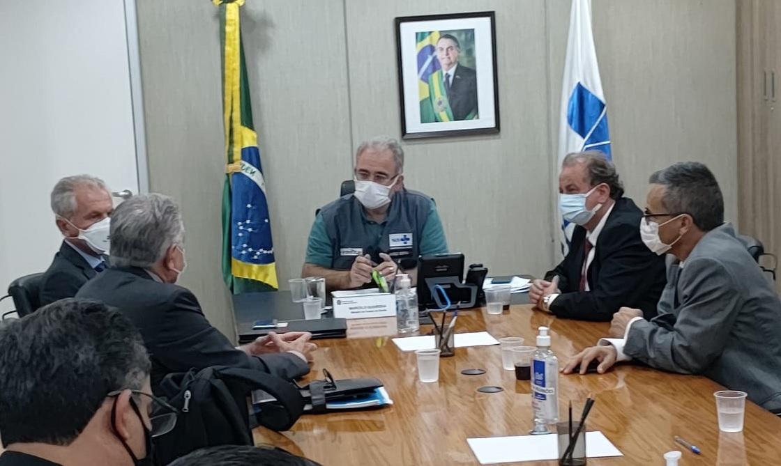 Com Mário, deputado Miguel reforça pedidos para Limeira em encontro com o ministro da Saúde